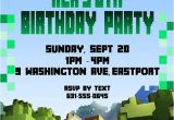 Birthday Invitation Template Minecraft Birthday Invitation Minecraft theme