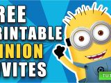 Birthday Invitation Template Minions Diy Free Printable Minion Birthday Invite How to Video