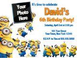Birthday Invitation Template Minions Free Printable Minion Birthday Party Invitations Ideas