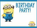 Birthday Invitation Template Minions Fun Minion Party Ideas for A Birthday Fun Squared