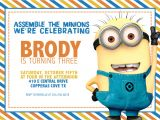 Birthday Invitation Template Minions Minion Birthday Party Invitations Ideas Drevio