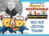 Birthday Invitation Template Minions Updated Bunch Of Minion Birthday Party Invitations Ideas