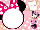Birthday Invitation Template Minnie Mouse Free Printable Minnie Mouse Pinky Birthday Invitation