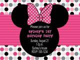 Birthday Invitation Template Minnie Mouse Minnie Mouse Birthday Party Invitations Drevio