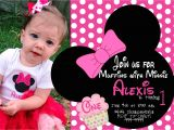 Birthday Invitation Template Minnie Mouse Minnie Mouse First Birthday Invitations Free Invitation