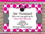 Birthday Invitation Template Minnie Mouse Minnie Mouse Party Invitations Template Birthday Party