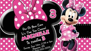 Birthday Invitation Template Minnie Mouse Minnie Mouse Printable Birthday Invitations Free