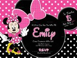 Birthday Invitation Template Minnie Mouse Special Minnie Mouse Birthday Invitation Design Template