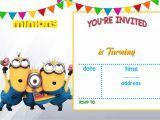 Birthday Invitation Template Powerpoint Cartoon Invitation Ppt Template Blank Templates Minion