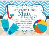 Birthday Invitation Template Powerpoint Swimming Birthday Invitation Templates Powerpoint