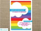 Birthday Invitation Template Rainbow 40th Birthday Ideas Free Rainbow Birthday Invitation