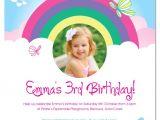 Birthday Invitation Template Rainbow Rainbow Birthday Invitations Ideas Bagvania Free