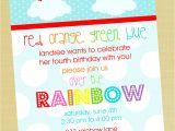 Birthday Invitation Template Rainbow Rainbow Birthday Quotes Quotesgram