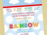 Birthday Invitation Template Rainbow Rainbow Boy Printable Birthday Invitation Rainbow by