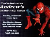 Birthday Invitation Template Spiderman Convite De Aniversario Homem Aranha