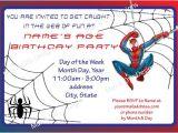 Birthday Invitation Template Spiderman Spiderman Birthday Invitation Template Free