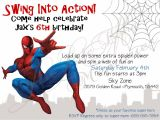 Birthday Invitation Template Spiderman Spiderman Birthday Invitation Template