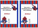 Birthday Invitation Template Spiderman Spiderman Birthday Invitations Birthday Printable