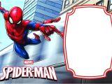 Birthday Invitation Template Spiderman Spiderman Invitation Templates Free Awesome Free Printable