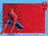 Birthday Invitation Template Spiderman Spiderman Invitations Cards