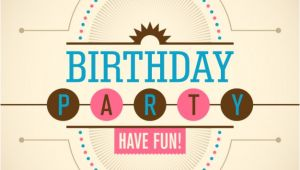 Birthday Invitation Template Vector Birthday Party Invitation Vector Free Download