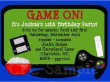 Birthday Invitation Template Video Items Similar to Video Game Birthday Invitation