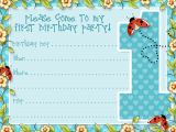 Birthday Invitation Templates Boy Free Boys Printable Party Kits