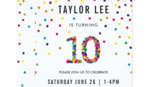 Birthday Invitation Templates for 10 Year Old Rainbow 10 Year Old Birthday Party 10th Birthday