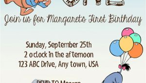 Birthday Invitation Templates Winnie Pooh Winnie the Pooh Birthday Invitation by Speckledinsunlight