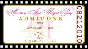 Birthday Invitation Ticket Template Free Free Templates for Birthday Invitations Drevio