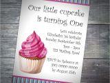 Birthday Invitation with Dress Code Kids Cupcake Party