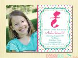 Birthday Invitation Wording for 7 Year Old Boy Mermaid Birthday Invitation 1 2 3 4 5 Year Old Any Age