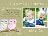 Birthday Invitations for Twins First Birthday Items Similar to Twins 1st Birthday Invitation You Print