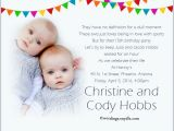 Birthday Invitations for Twins First Birthday Twin Birthday Party Invitation Wording Wordings and Messages