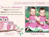 Birthday Invitations for Twins First Birthday Twins 1st Birthday Invitation You Print