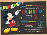 Birthday Invitations Free Printable Mickey Mouse Mickey Mouse Birthday Invitation Mickey Mouse Clubhouse