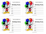 Birthday Invitations Free Printable Mickey Mouse Mickey Mouse Birthday Invitations Free Printable