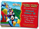 Birthday Invitations Free Printable Mickey Mouse Mickey Mouse Clubhouse Invitations Printable Personalized