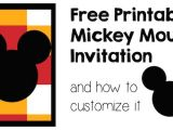 Birthday Invitations Free Printable Mickey Mouse Mickey Mouse Invitation and How to Customize It Paper