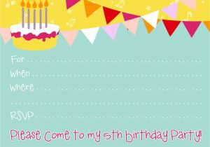 Birthday Invite Template Free Birthday Party Invitations for Girl Bagvania Free