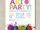 Birthday Party Invitation Template Art Free Art Party Invitation Painting Party Art Birthday Party