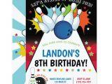 Birthday Party Invitation Template Bowling Bowling Birthday Party Invitation Boy Invitation Zazzle Com