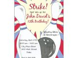 Birthday Party Invitation Template Bowling Bowling Birthday Party Invitations Paperstyle