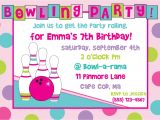 Birthday Party Invitation Template Bowling Printable Bowling Birthday Party Invitations