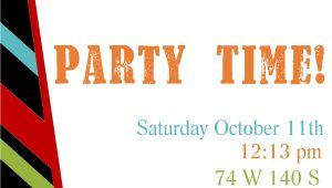 Birthday Party Invitation Template Free Printable Birthday Invitation Templates