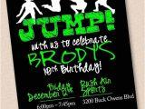 Birthday Party Invitation Template Trampoline Jump Trampoline Park Birthday Party Invitation Digital Design