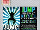 Birthday Party Invitation Template Trampoline Trampoline Birthday Party Invites Nk99