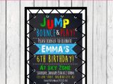 Birthday Party Invitation Template Trampoline Trampoline Party Personalized Birthday Invitation Digital