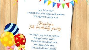 Birthday Party Invitations Wording 7th Birthday Party Invitation Wording Wordings and Messages