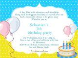 Birthday Party Invite Wording 7th Birthday Invitation – orderecigsjuicefo